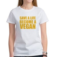 Save A Life, Become A Vegan T-Shirt