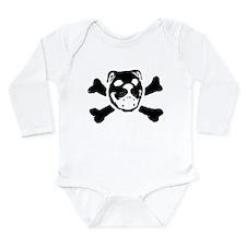 BULLDOG SKULL Long Sleeve Infant Bodysuit