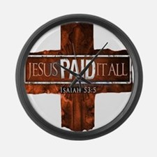 Jesus Paid In Full Large Wall Clock