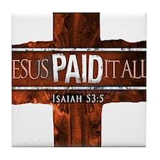 Jesus Paid In Full Tile Coaster