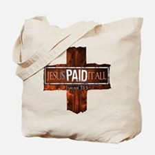 Jesus Paid In Full Tote Bag