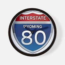 Interstate 80 - Wyoming Wall Clock