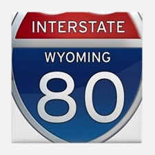 Interstate 80 - Wyoming Tile Coaster