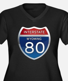 Interstate 80 - Wyoming Women's Plus Size V-Neck D