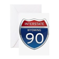 Interstate 90 - Wyoming Greeting Card