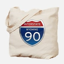 Interstate 90 - Wyoming Tote Bag
