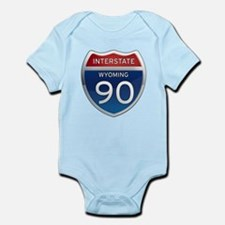 Interstate 90 - Wyoming Infant Bodysuit