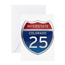 Interstate 25 - Colorado Greeting Card