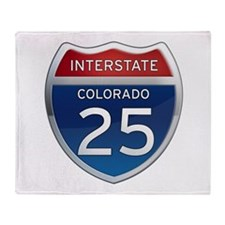 Interstate 25 - Colorado Throw Blanket