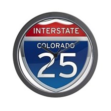 Interstate 25 - Colorado Wall Clock