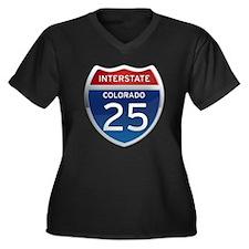 Interstate 25 - Colorado Women's Plus Size V-Neck