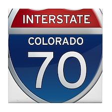 Interstate 70 - Colorado Tile Coaster