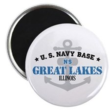 """US Navy Great Lakes Base 2.25"""" Magnet (10 pack)"""