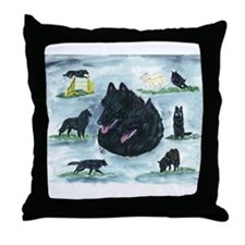 Versatile Belgian Sheepdog Throw Pillow