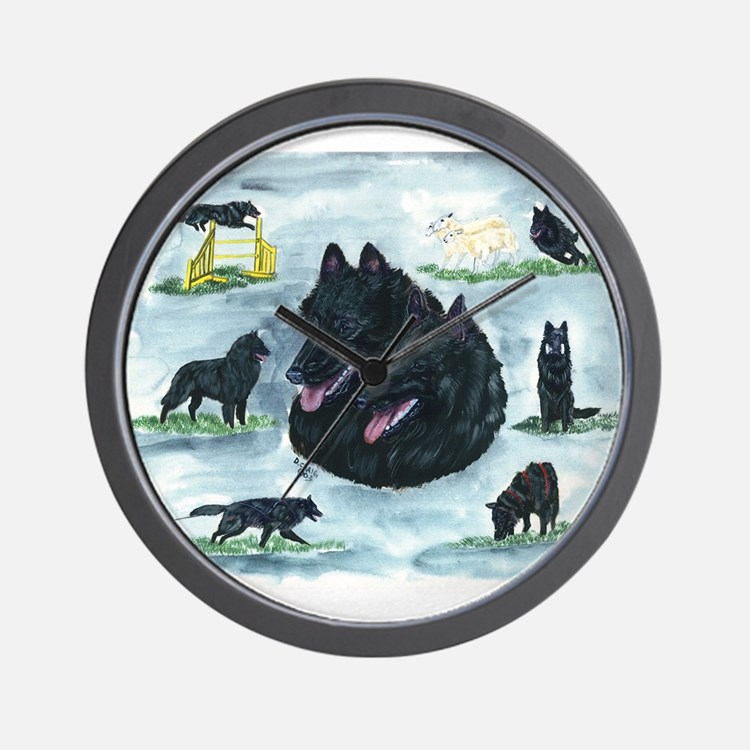 Versatile Belgian Sheepdog Wall Clock