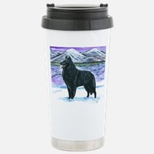 Belgian Sheepdog In Snow Travel Mug