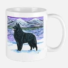 Belgian Sheepdog In Snow Mug