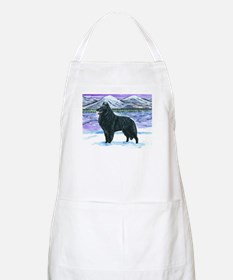 Belgian Sheepdog In Snow Apron