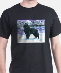 Belgian Sheepdog In Snow T-Shirt