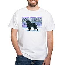 Belgian Sheepdog In Snow Shirt