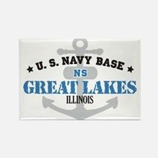 US Navy Great Lakes Base Rectangle Magnet (10 pack