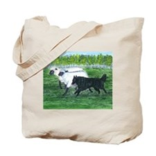 Belgian Sheepdog Herding Tote Bag