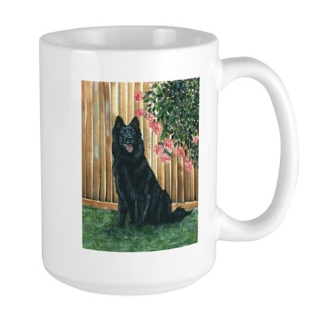 Belgian Sheepdog Happy Large Mug