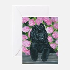 Belgian Sheepdog Fence Pup Greeting Card