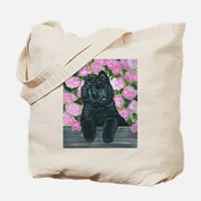 Belgian Sheepdog Fence Pup Tote Bag