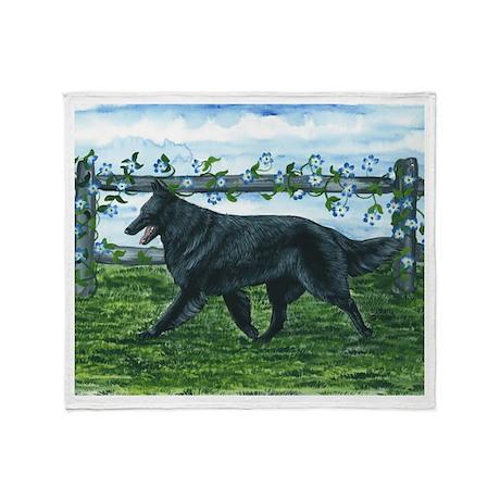 Belgian Sheepdog Patrol Throw Blanket