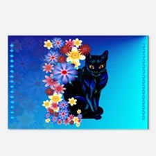Black Garden Kitty Postcards (Package of 8)