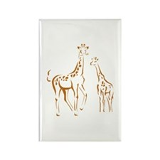 Giraffe Rectangle Magnet