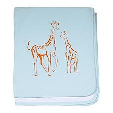 Giraffe baby blanket
