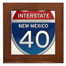 Interstate 40 - New Mexico Framed Tile