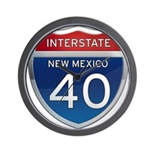 Interstate 40 - New Mexico Wall Clock