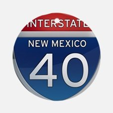 Interstate 40 - New Mexico Ornament (Round)