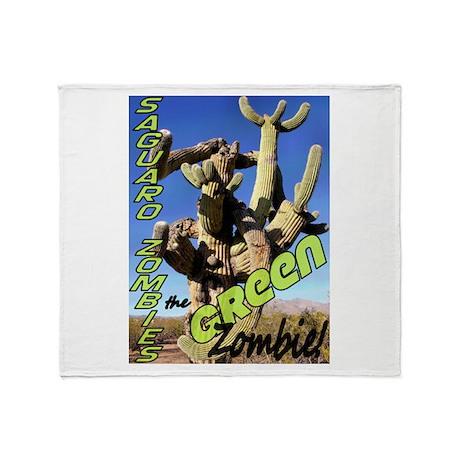 Saguaro Zombies: The Green Zombie Throw Blanket