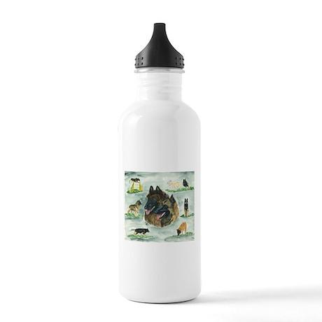 Belgian Tervuren Versatility Stainless Water Bottl