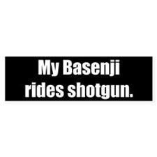 My Basenji rides shotgun (Bumper Sticker)