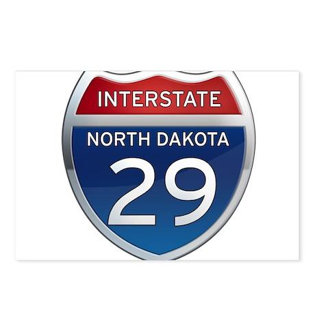 Interstate 29 - North Dakota Postcards (Package of