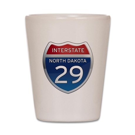 Interstate 29 - North Dakota Shot Glass