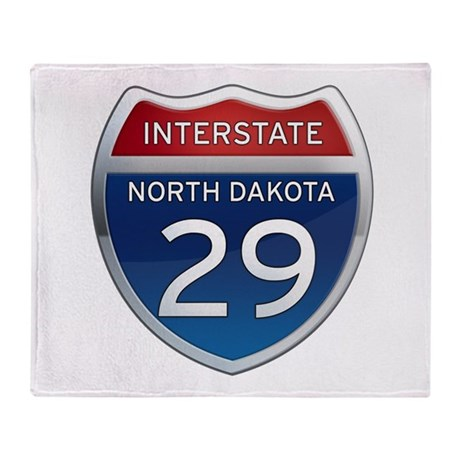 Interstate 29 - North Dakota Throw Blanket