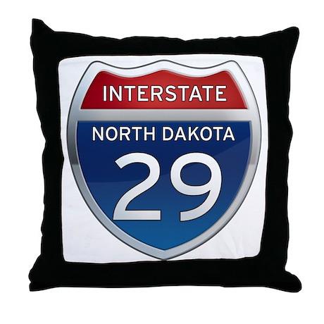 Interstate 29 - North Dakota Throw Pillow