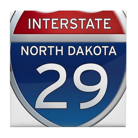 Interstate 29 - North Dakota Tile Coaster