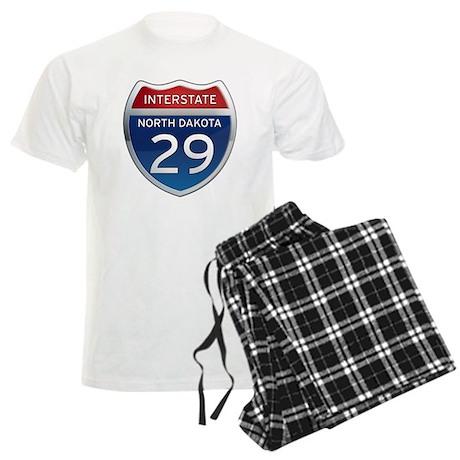 Interstate 29 - North Dakota Men's Light Pajamas
