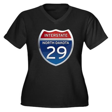 Interstate 29 - North Dakota Women's Plus Size V-N