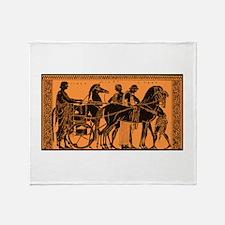 Ancient Greek Chariot Throw Blanket