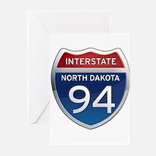 Interstate 94 - North Dakota Greeting Cards (Pk of