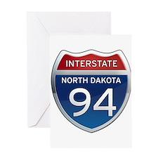 Interstate 94 - North Dakota Greeting Card
