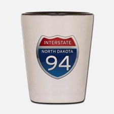 Interstate 94 - North Dakota Shot Glass
